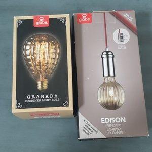 Edison pendant and Granada light bulb
